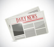 Daily news newspaper illustration design Royalty Free Stock Photo