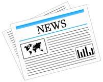 Daily News Newspaper Press Stock Photo