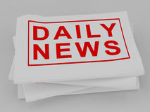Daily news Newspaper Stock Image