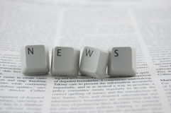 News spelled and newspaper Stock Photography