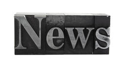 'news' in old metal type Royalty Free Stock Photos