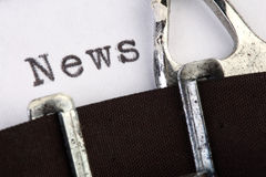 News on old typewriter Royalty Free Stock Photos