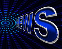 News Online Indicates World Wide Web And Network Royalty Free Stock Images