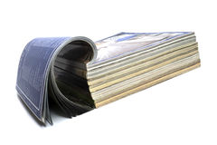 News papaer. News paper white background isolate Stock Images