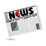 News Paper. Illustration of news paper on isolated white background Stock Photography