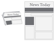 News paper. Image easy to modify Stock Photography