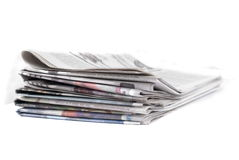 News Paper. On white background Stock Image