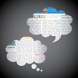 News Paper Chat Bubble Stock Images