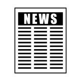 News paper information isolated icon Stock Images