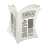 News paper information isolated icon Stock Photography