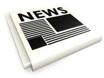 News paper isolated Stock Photography