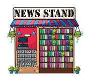 A news paper shop Stock Image