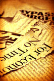 News paper text Stock Images