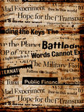 News Paper Texts Stock Photography