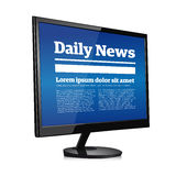 Daily news on pc screen Royalty Free Stock Photography