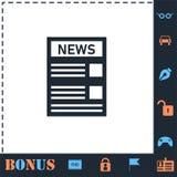 News icon flat vector illustration