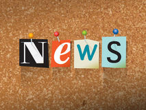 News Pinned Paper Concept Illustration Stock Photography