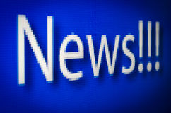News pixelated screen Royalty Free Stock Photos