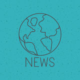 News with planet  sphere design Royalty Free Stock Photos