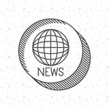 News with planet  sphere design Royalty Free Stock Image