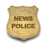 News Police Badge Stock Photography
