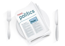 News politics tablewares Stock Photos