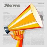 News, Presa and  Megaphone Royalty Free Stock Images
