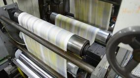 News print factory stock footage