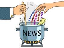 News production metaphor pop art vector Royalty Free Stock Photos