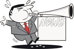 News publicity cartoon Royalty Free Stock Photography