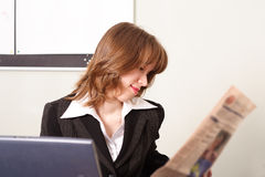 News read. Portrait of a businesswoman when working. Shot in office Royalty Free Stock Photo