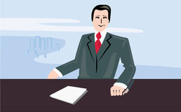 News reader Royalty Free Stock Images