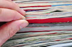 News. reading paper magazines Royalty Free Stock Photography