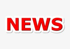News Red Sign Stock Image