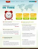 News related web page infographics template Royalty Free Stock Image