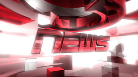 NEWS Report Graphic Animation stock video