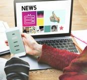 News Report Update Media Broadcast Information Concept Stock Photo