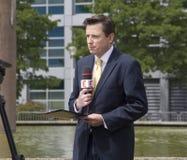News Reporter Stock Image