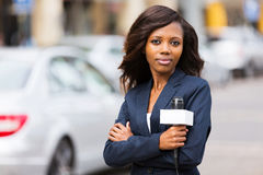 News reporter Stock Photo