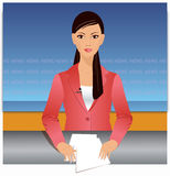 News reporter illustration Stock Photos