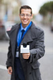 News reporter interview Stock Photography