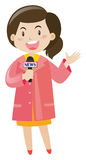 News reporter with microphone Stock Image