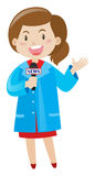 News reporter wearing blue shirt. Illustration Stock Images