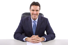 News Reporter on White Background Royalty Free Stock Image