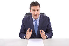 News Reporter on White Background Royalty Free Stock Images