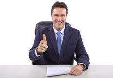 News Reporter on White Background Royalty Free Stock Photography
