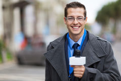 News reporter working royalty free stock image