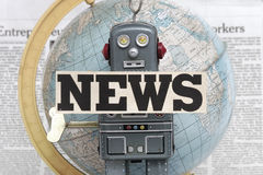 News robot Royalty Free Stock Photos