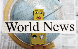 News robot Royalty Free Stock Images