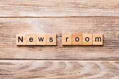 News room word written on wood block. News room text on wooden table for your desing, concept stock photos